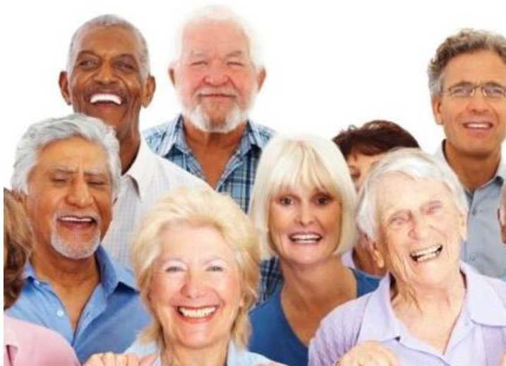 Dementia - Group of people together smiling
