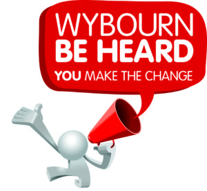 Wybourn be heard logo