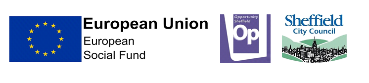 Opporunity Sheffield, European Social Fund & Sheffield City Council logos