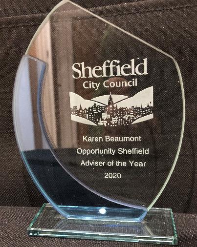 Opportunity Sheffield's Adviser of the year Award 2020 - Karen Beaumont